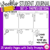 Weekly Student Quick Write Daily Journal Set 2 Themes - Pr