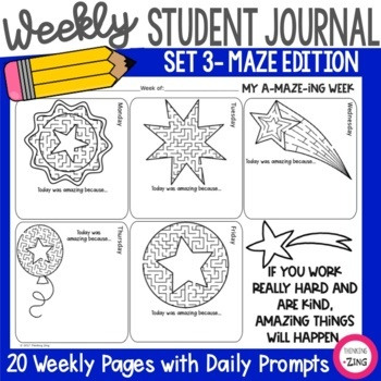 Weekly Think Book Student Journal Set 3 Maze Edition