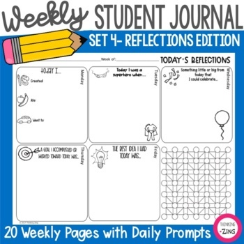 Weekly Think Book Student Journal Set 4 Reflections