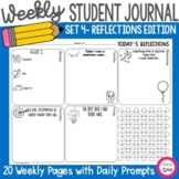 Weekly Student Daily Quick Write Prompts Journal Pages - S