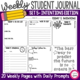 Weekly Think Book Set 5 Daily Intentions (Today I will...)