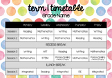 Weekly Timetable #AUSBTS17