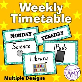 Weekly Timetable Display