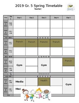 Weekly Timetable - EDITABLE