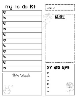 Weekly To Do List Organization