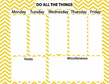 Weekly To Do List Set