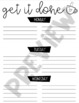 Weekly To-Do List Template