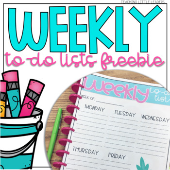 Weekly To-Do Lists Freebie
