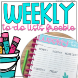 Weekly To-Do Lists Freebie