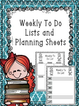 Weekly To Do Lists and Planning Sheets