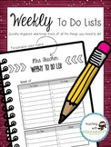 Weekly To Do Lists (with editable name)