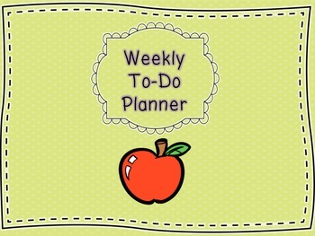 Weekly To-Do Planner
