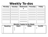 Weekly To Dos