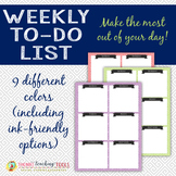 Weekly To-do List - Greek Key Design