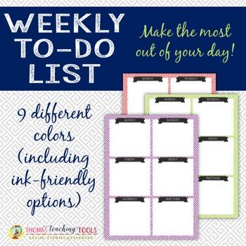 Weekly To-do List - Greek Key Design
