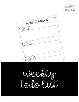 Weekly Todo List