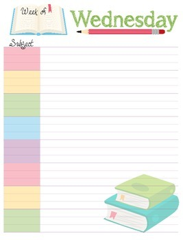Weekly Undated Planner Pages