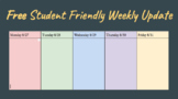 Weekly Update Template