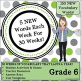 Weekly Vocab That Lasts a Year - 6th Grade!
