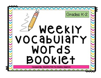 Weekly Vocabulary Booklet