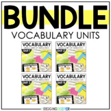 Weekly Vocabulary Building FULL YEAR BUNDLE Distance Learning