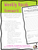 Weekly Vocabulary Homework