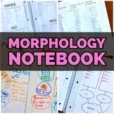 Morphology Notebook on Prefixes, Suffixes, & Roots