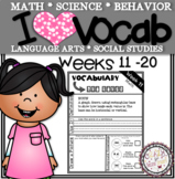Weekly Vocabulary Practice Weeks 11-20 2nd Grade