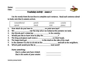 Weekly Vocabulary Review - Journeys Program