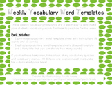 Weekly Vocabulary Words Template- Editable included!