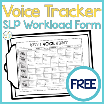 Weekly Voice Tracker FREEBIE for Voice Therapy