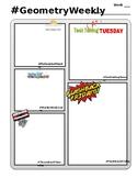 Weekly Warm Up Sheet - Hashtag