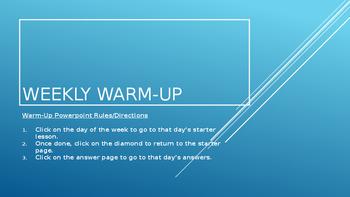 Weekly Warm-up