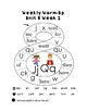 Kindergarten Reading Weekly Warm-ups Unit 8