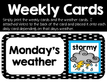 Weekly Weather Cards