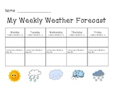 Weekly Weather Forecast Tracker Chart