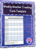 Weekly Weather Tracking Template