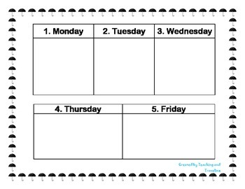 Weekly Weather Worksheet