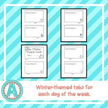 Weekly Winter Prayer Tab Book