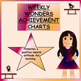 Weekly Wonders Achievement Chart
