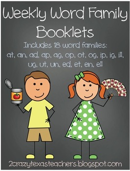 Weekly Word Family Booklets