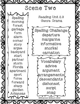 Weekly Word Lists Unit 2