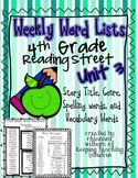 Weekly Word Lists Unit 3