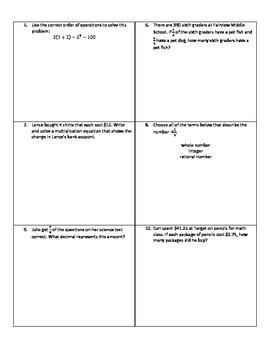 Weekly Word Problems #11 - Revised TEKS