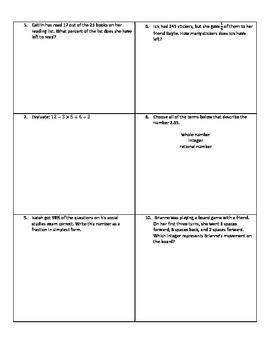 Weekly Word Problems #13 - Revised TEKS