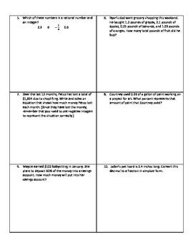 Weekly Word Problems #14 - Revised TEKS