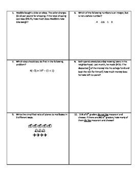 Weekly Word Problems #16 - Revised TEKS