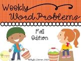 Weekly Word Problems
