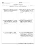 Weekly Word Problems #3 (Old TEKS)