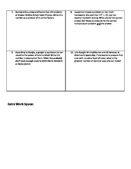 Weekly Word Problems #4 (Old TEKS)